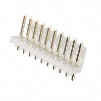 10 Pin Straight Square Pin Locking Header, .156″ (3.96mm)  26-60-4100