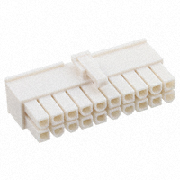 10 Circuit Receptacle Housing, Dual Row   39-01-2200