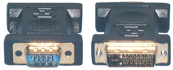 HDMI & DVI Adaptors, DVI-I Dual Link Male to HD15(VGA) Male