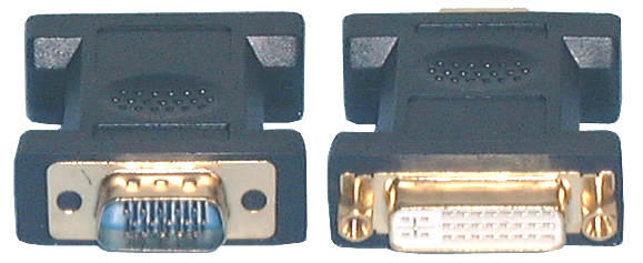 HDMI & DVI Adaptors, DVI-I Dual Link F to HD15(VGA)M Adaptor