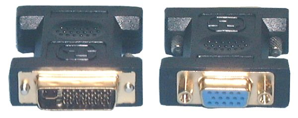 HDMI & DVI Adaptors, DVI-I Dual Link M to HD15 (VGA)F Adaptor