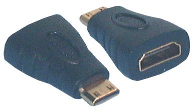 HDMI & DVI Adaptors, HDMI A Female to HDMI C (mini) Male Adaptor
