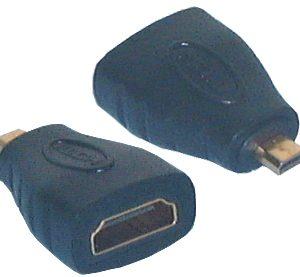HDMI & DVI Adaptor, HDMI (A) Female to Micro HDMI (D) Male Adaptor