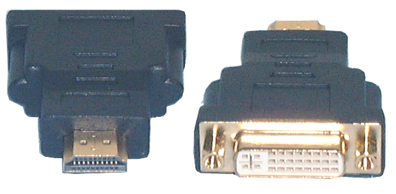 HDMI & DVI Adaptors, HDMI Male to DVI-I