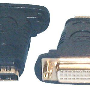 HDMI & DVI Adaptors, HDMI F to DVI-I F Adaptor
