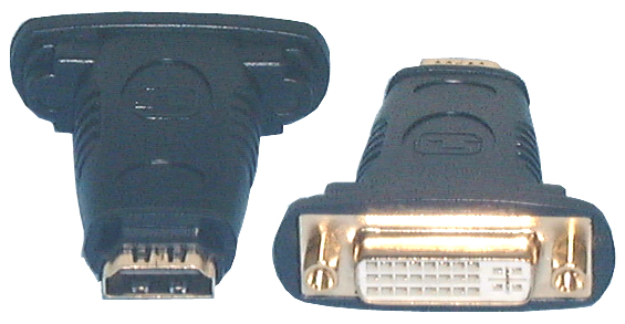 HDMI & DVI Adaptors, HDMI F to DVI-I F Adaptor