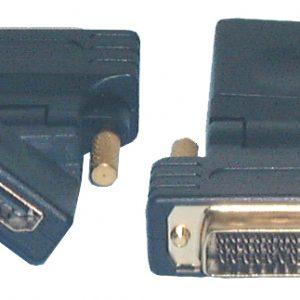 HDMI & DVI Adaptors, Swivel HDMI Female to DVI-D Male