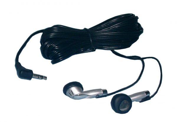 Stereo Earphones, 18ft