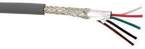 Multi-Conductor, 24awg, 7/32 strand, Chrome, 10ft      9618