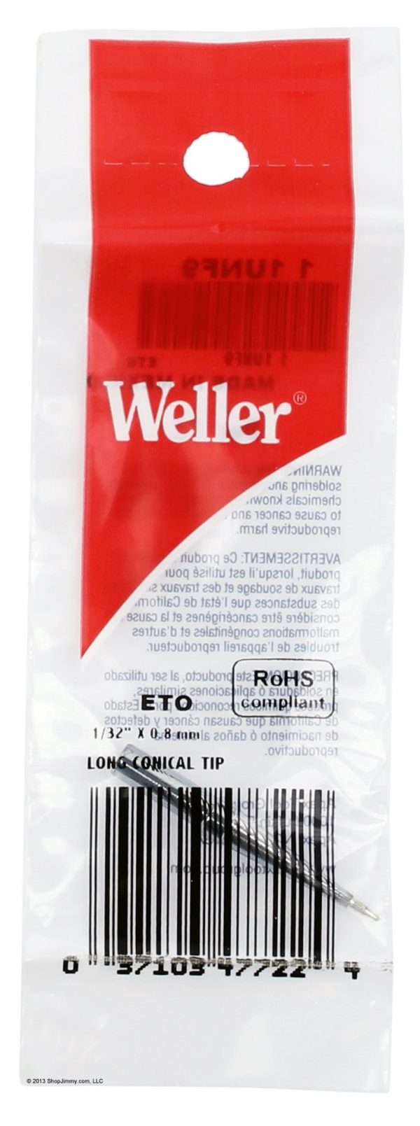 "Solder Tip for EC1201A Irons, 1/32""  ETO,weller"