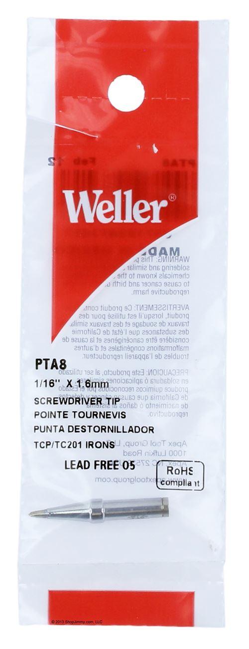 """Solder Tip, Screwdriver, 1/16""""  PTA8"""