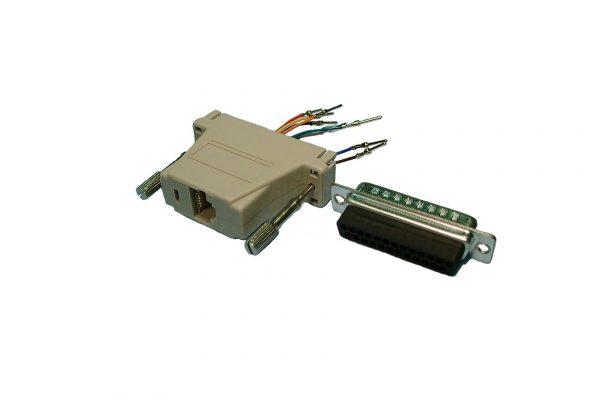 Interface Adaptor, DB25M to RJ45    TDP8