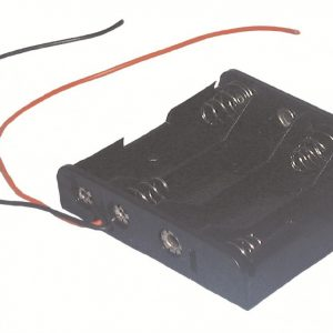 "BATTERY HOLDER 4 ""AA"", 26 AWG WIRE LEADS   ZBH341"