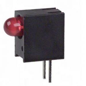 3mm LED,CBI Right Angle, Integral Resistor, Red     551-0507