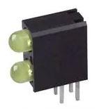 3mm Bi-Level CBI, Standard Efficiency, Yellow/Yellow, Tinted/Diffused  553-0133