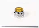 Mini Panel Indicator, Yellow Flat PMI Cap, Back Frosted   037-0213-200