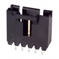 5 Position Header, Shrouded .100″ (2.54mm) Center      103638-4