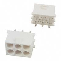 6 Position Plug, Mate-N-Lok       350732-2