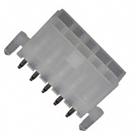 10 Circuit Header, Dual Row Vertical with PCB Mounting Pegs   39-29-9103