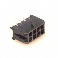 8 Pin MicroFit Header, Dual Row w/Polarizing Peg, Gold Plating     43045-0814