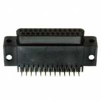 DB25 Female DSub Connector, Right Angle PC Mount, 206584-1