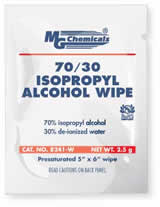 Isopropyl 70/30 Wipe, Single Pack       8241-W