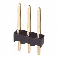 3 Pin Header, Single Row, Unshrouded, .100″(2.54mm) Centers          87224-3