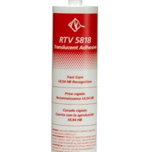 Adhesive Silicone, One-Part, Translucent, Non-Corrosive, Fast Cure   RTV5818-300ML, MG Chemicals