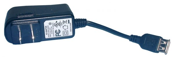 """48-1211USB Charger, in 100-240vac, out 5vdc 2a, 2"""" USB cord, Philmore"""