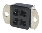 Panel Mount Socket, 4 Position, 10a   38330-0504