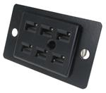 Panel Mount Socket, 6 Position, 15a   38542-1306