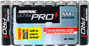 AAA Industrial Alkaline, Rayovac 8/PK        AL-AAA GEN, battery, batteries