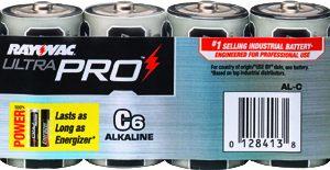 C Industrial Alkaline, Rayovac 6/PK   AL-C GEN, battery, batteries