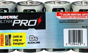 D Industrial Alkaline, Rayovac 6/PK   AL-D GEN, battery, batteries