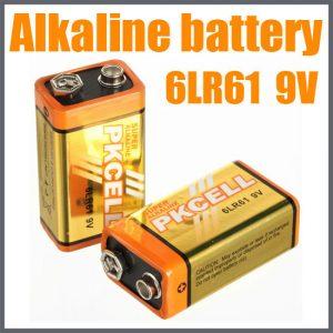 9v Alkaline Battery, 1/Card           6LR61-1