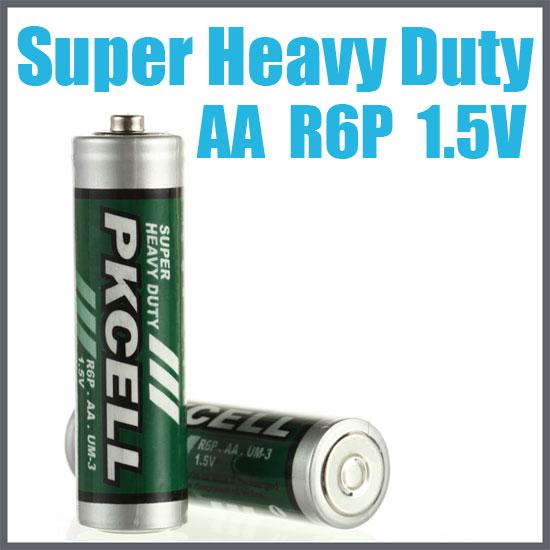 AA Battery, Super Heavy Duty,  4/card    R6P-4B