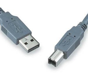 USB 2.0 Cable, A Male – B Male, Gray Cable, 1 Mt  C-237-1MBB