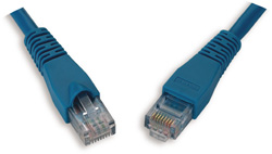 Cat5e Patch Cord, Blue, 2ft   C5E-114BU-2FB