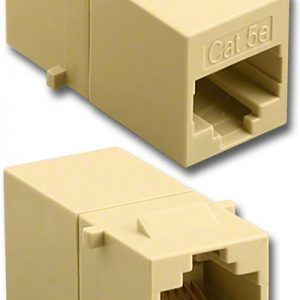 Tool Less Jack, CAT5e Feed Thru Jack, Ivory        DC-1021-8-IV-5E