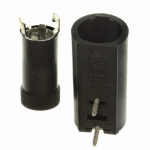 Fuse Holder, PC Horizontal Mount for 5 x 20mm Fuse HTC-50M