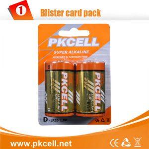 D Alkaline Battery, 2/Card     LR20-2
