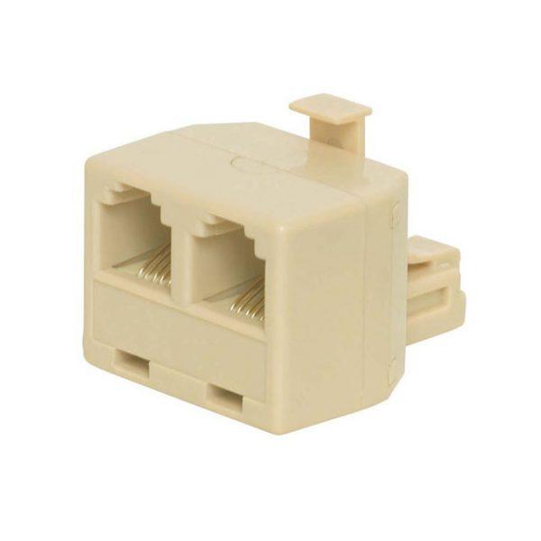 Duplex Telephone Adapter, 4P4C    NTC-2421