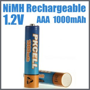 AAA 1000mAh NiMH Rechargeable Battery, 2/Card     AAA1000-2, battery, batteries