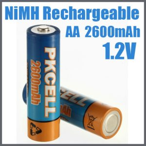 AA 2600mAh NiMH Rechargeable Battery, 2/Card AA2600-2, battery, batteries