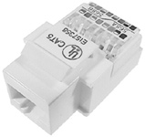 Category 5e Keystone Jacks, White    13-111-E0