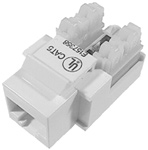 Category 5e Keystone Jack, White, Standard 110 Type    13-112E-0