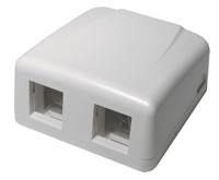 Dual Surface Mount Box, White   13-122-0