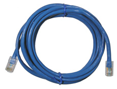 CAT5e Patch cord, 7ft, Blue     13-162BL-0