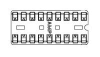 22 Pin Socket, Diplomate Dual Leaf       2-640360-3