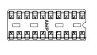20 Pin Socket, Retention Leads        2-641264-3